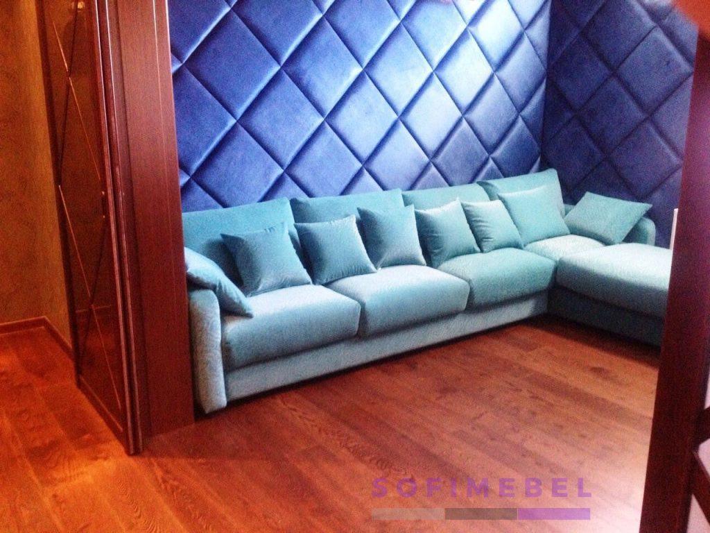 Синий диван под заказ