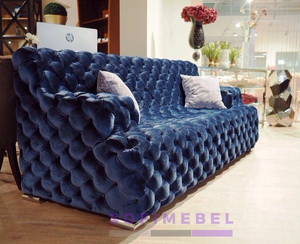Голубой диван под заказ