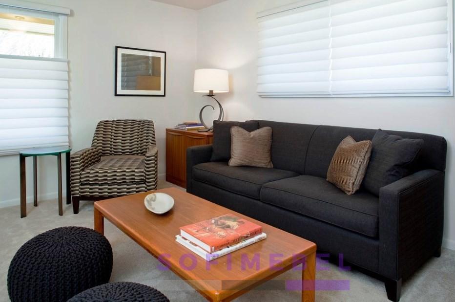 Черный диван под заказ